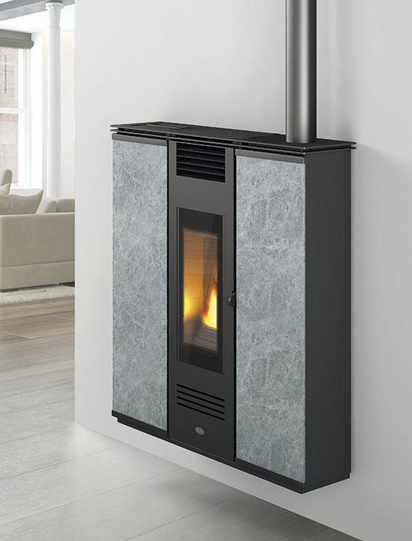 poele a mure canalise 39 a granules pellet eva calor petra 11 kw pierres ebay. Black Bedroom Furniture Sets. Home Design Ideas