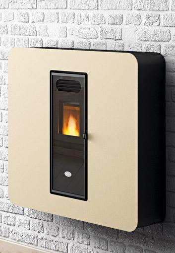stufa pellet a muro 4kw 100 m3 eva calor gaia poele stove. Black Bedroom Furniture Sets. Home Design Ideas