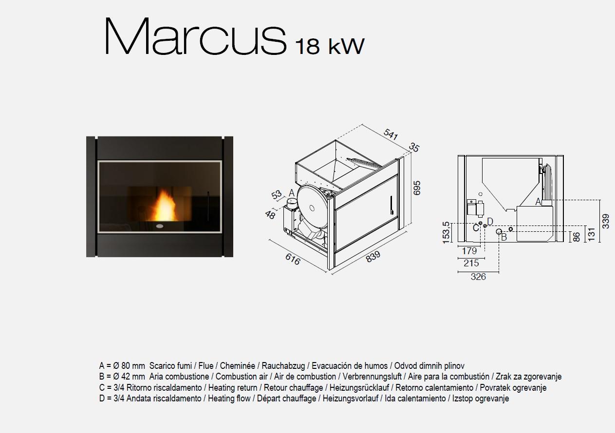 kaminofen pellet kamineinsatz wasserf hrend hydro 18kw marcus eva calor ebay. Black Bedroom Furniture Sets. Home Design Ideas
